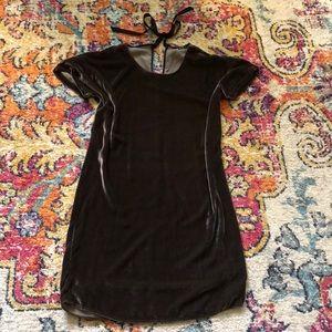 Velvet sheath dress